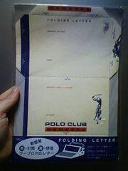 新品★POLO CLUB 新感覚ワープロ対応レターセット〓定価400〓青