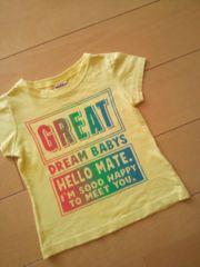 中古Tシャツ90黄ベビードールBABYDOLLドリベビ