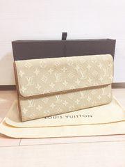 1円 ◆正規品◆ 極上美品 ルイヴィトン モノグラムミニ 長財布