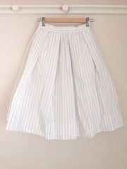 フレイアイディー FRAY I.D ◆美品◆ふんわりチュール付き ストライプスカート♪