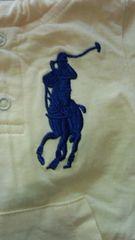 新品未使用品黄色にラルフビック刺繍No.3size80オールインワン