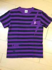 Laundry Tシャツ 紫??黒ボーダー Sサイズ