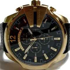極美品 DIESEL 超大型クロノグラフ ディーゼル メンズ腕時計