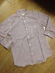 美品JOURNAL STANDARD レザー使用チェックシャツ 日本製