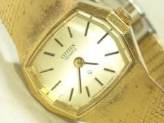 2661復活祭★シチズン☆ゴールドブレスレット型レディース腕時計ビンテージモデル