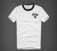 【Abercrombie&Fitch】Vintage  アップリケロゴTシャツ XL/White
