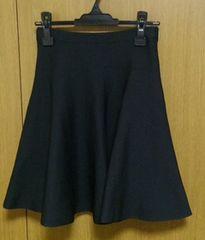ルッシェルブルーフレアスカート 38サイズ  黒