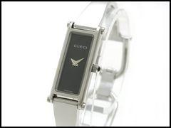 GUCCI グッチ バングル 1500L 黒文字盤 レディース 腕時計