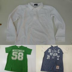 ◆USED◆130/140cm Tシャツ 長袖ポロ★COMME CA  ISM他★