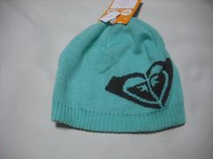 wb723 ROXY ロキシー ニット帽 ビーニー 緑