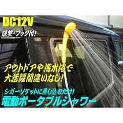 送料無料!12v電動ポータブルシャワー・洗車/キャンプ/海水浴に