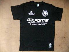 DALPONTE ダウポンチ半袖フットサルTシャツ 黒 ブラック L
