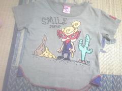 ◆ヒスミニ◆Tシャツ◆100CM◆刺繍生地使い◆