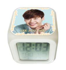 イ・ジョンソク韓国製カラーチェンジアラーム光デジタルキューブ置時計02/イジョンソク