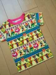 新品クマテンチョー2PTシャツ110黄JAM