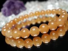 天然石3Aオレンジアベンチュリン約8ミリ23粒ブレス数珠