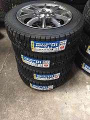 新品スタッドレスタイヤアルミセット ダンロップ WM01 155/65R14