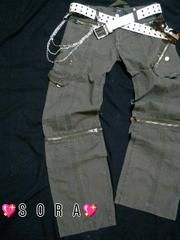 【LOWBOX】4way♪6ポケットサイドポケット膝ジッパーミリタリーカーゴパンツ