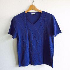 ◆a.v.v購入/メンズTシャツ◆ネイビーM無地★きれいめシンプルコーデ*V首♪