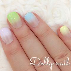 みぢょ!チビ爪ベリショ春夏シンプル可愛いパステルカラー5色カラフルグラデーション