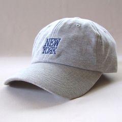 帽子♪スウェット ロゴ キャップ NEW YORK グレー