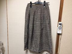 年末処分☆coca☆グレンチェックワイドパンツ