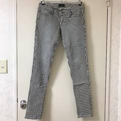 【moussy】マウジー/ストライプ美脚パンツ
