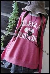 ◆新品◇3L◇英字ロゴ*スウェットプルオーバー♪ピンク