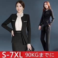 大きサイズスーツ ジャケット+スカート2点セットWXZ25 S~7XL