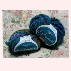 ミックスカラー(?)の毛糸玉40g×2玉セット♪未使用品 ハンドメイド/編み物