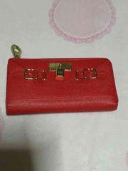 セシルマクビー☆財布 赤色