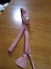ピンクの帯締め
