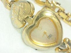 2389復活祭★ENRICOCOVERIエンリココベリ☆可愛いハート型ブレスレット腕時計