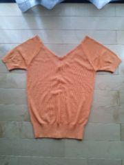 オレンジのニットシャツ ☆美品☆