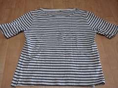 799 美品☆ボーダー柄Tシャツ☆3L