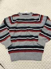 3999 グレーバーダーセーター 120-130