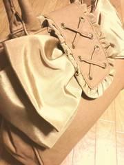 ギャラリービスコンティ/GALLERY革製大き目リボントートバッグ