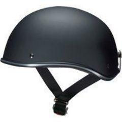【新品】ハーフヘルメット D-118 マットブラック フリーサイズ