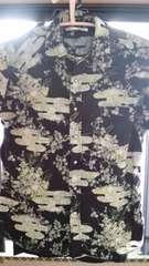 和柄の半袖ウエスタンシャツ 送料無料