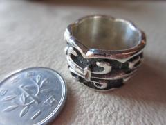 "Silver925  Ring  純銀指輪 ""百合紋章""15号  17g n100"
