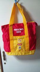 未使用★PERSON'S KIDSパーソンズキッズ★トートバッグ★赤&黄色