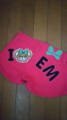 アースマジック☆モコモコマフィーちゃんバックロゴショートパンツ☆140 ピンク 超美品