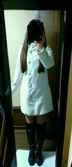 リズリサ スタンドカラー 白コート