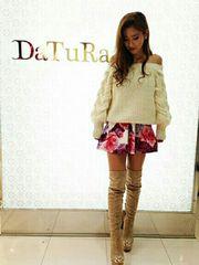 Datura/ダチュラ/新品/クラシックローズスカート/ホワイト