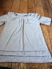新品未使用 グレーカットソー Tシャツ L