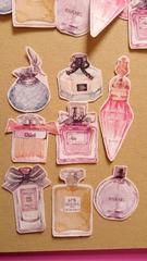香水瓶20枚★ハンドメイドフレークシールパフュームほぼ日スケ帳コラージュに