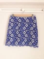 アナザーエディション ◆美品◆ お花刺繍 レーススカート (ブルー)♪