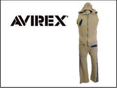 アヴィレックス AVIREX ◇ スエットパーカ 上下セットアップXS