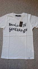 ◇新品AZUL KIDSオフホワイト二段ロゴTシャツ140◇
