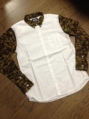 美品BEAMS デザインシャツ 日本製 ビームス